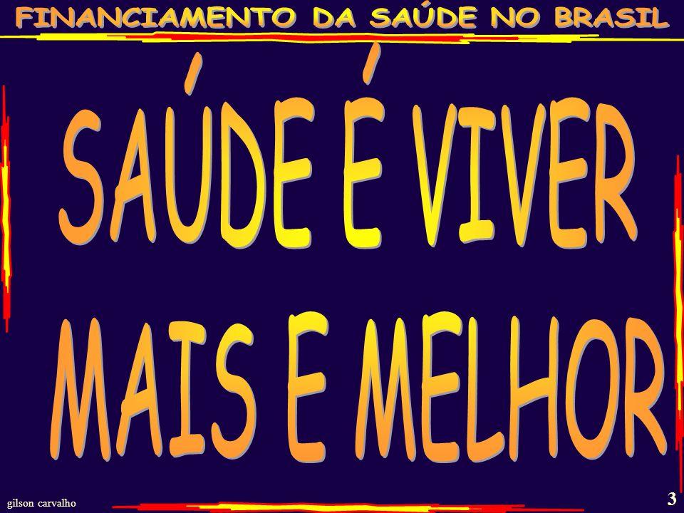 gilson carvalho 53 QUANDO O BRASIL GASTOU COM SAÚDE NO ANO DE 2010.