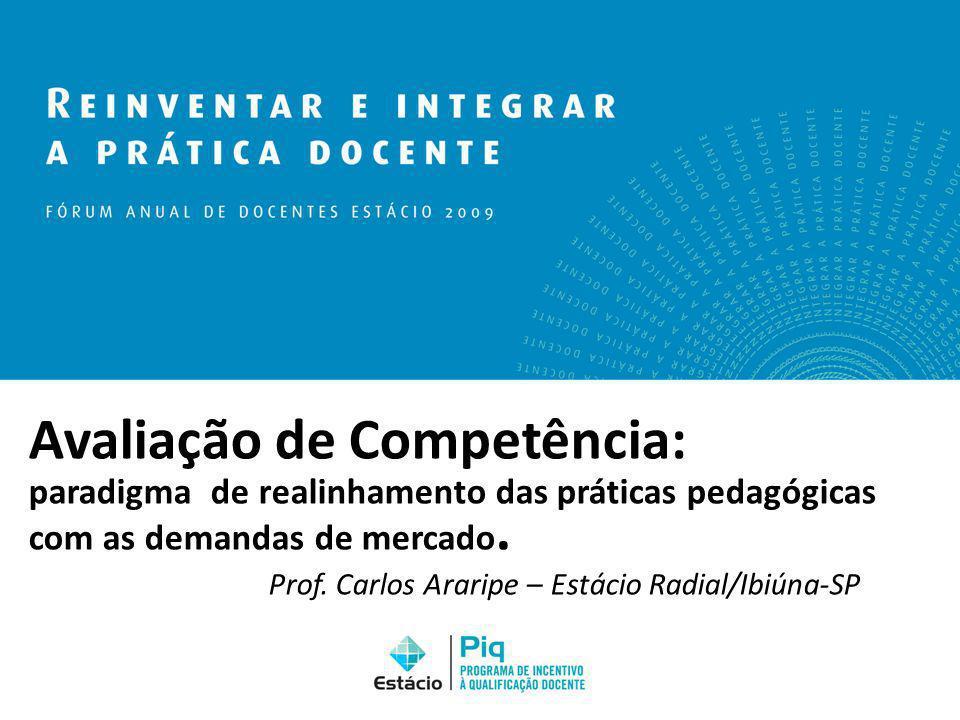 Avaliação de Competência: paradigma de realinhamento das práticas pedagógicas com as demandas de mercado. Prof. Carlos Araripe – Estácio Radial/Ibiúna