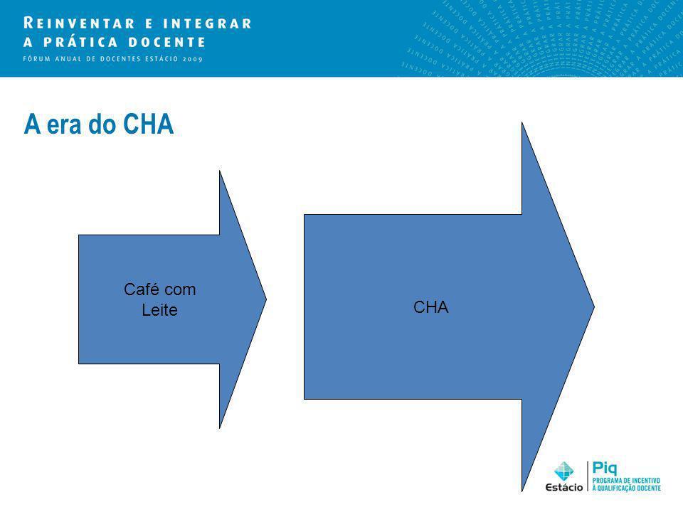 A era do CHA Café com Leite CHA
