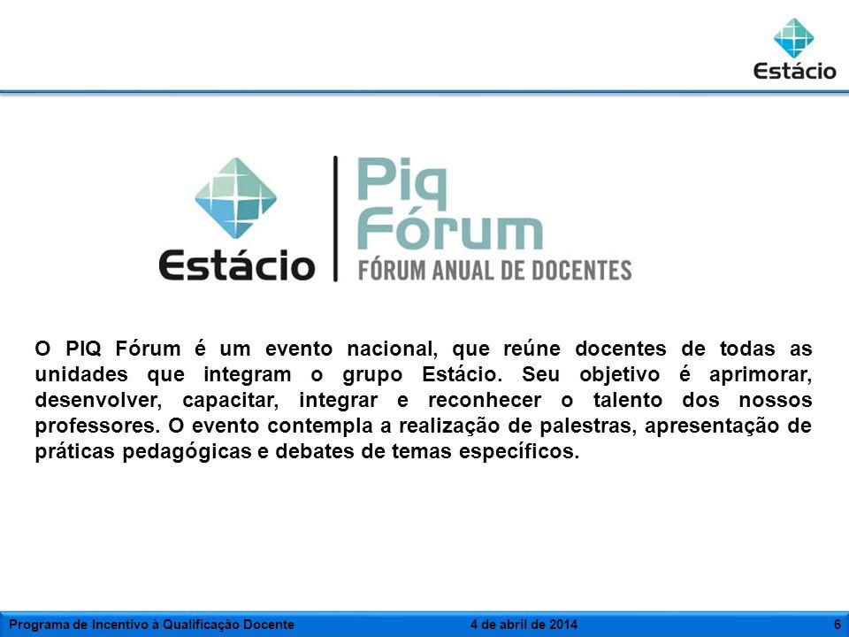 O PIQ Fórum é um evento nacional, que reúne docentes de todas as unidades que integram o grupo Estácio. Seu objetivo é aprimorar, desenvolver, capacit