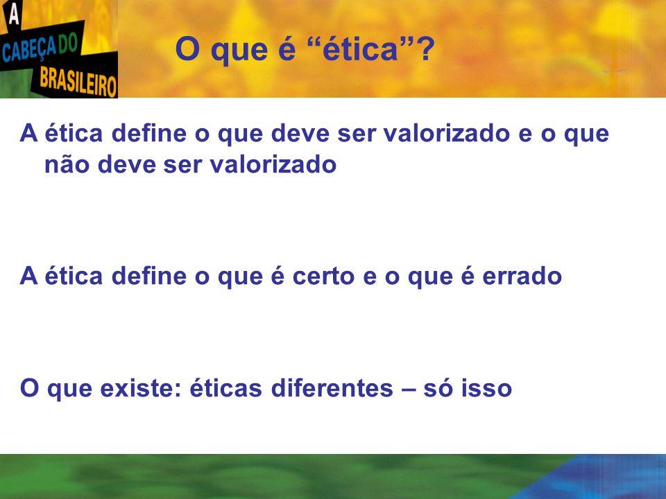 [ 2 ] O que é ética? A ética define o que deve ser valorizado e o que não deve ser valorizado A ética define o que é certo e o que é errado O que exis