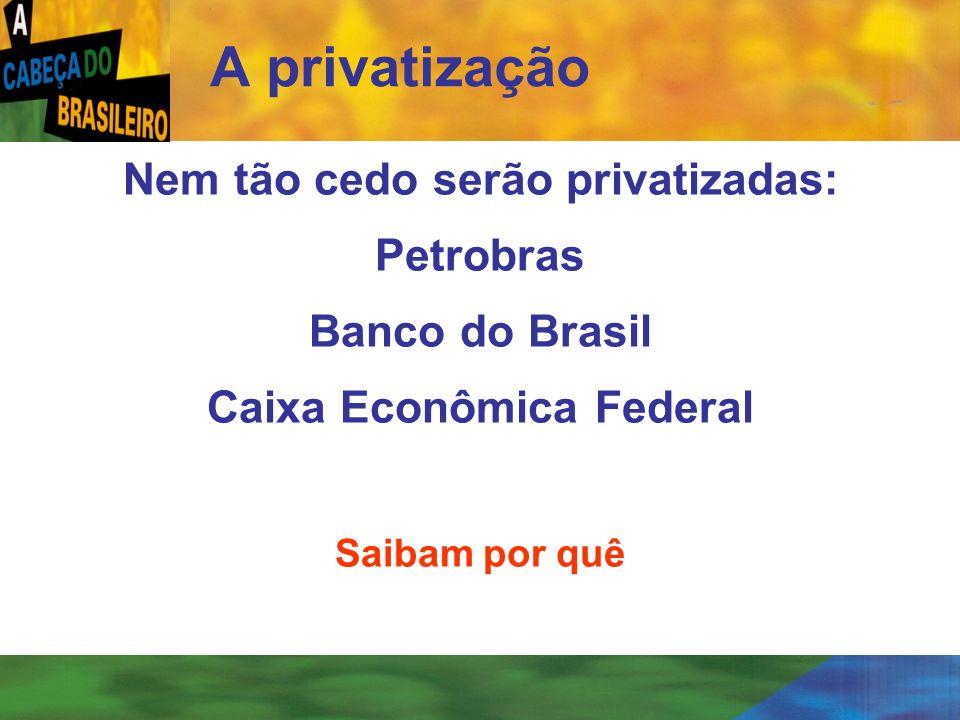[ 23 ] Nem tão cedo serão privatizadas: Petrobras Banco do Brasil Caixa Econômica Federal Saibam por quê A privatização