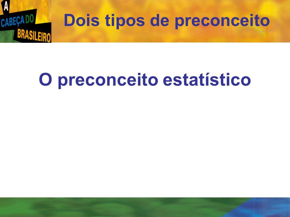 [ 31 ] O preconceito estatístico Dois tipos de preconceito