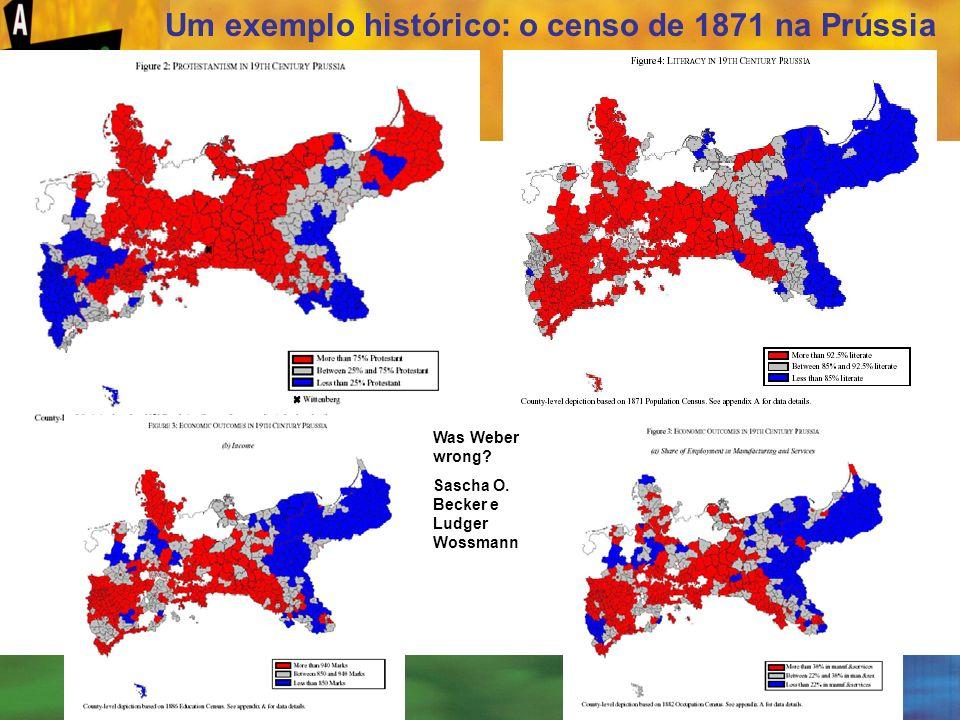 [ 53 ] Um exemplo histórico: o censo de 1871 na Prússia Was Weber wrong? Sascha O. Becker e Ludger Wossmann
