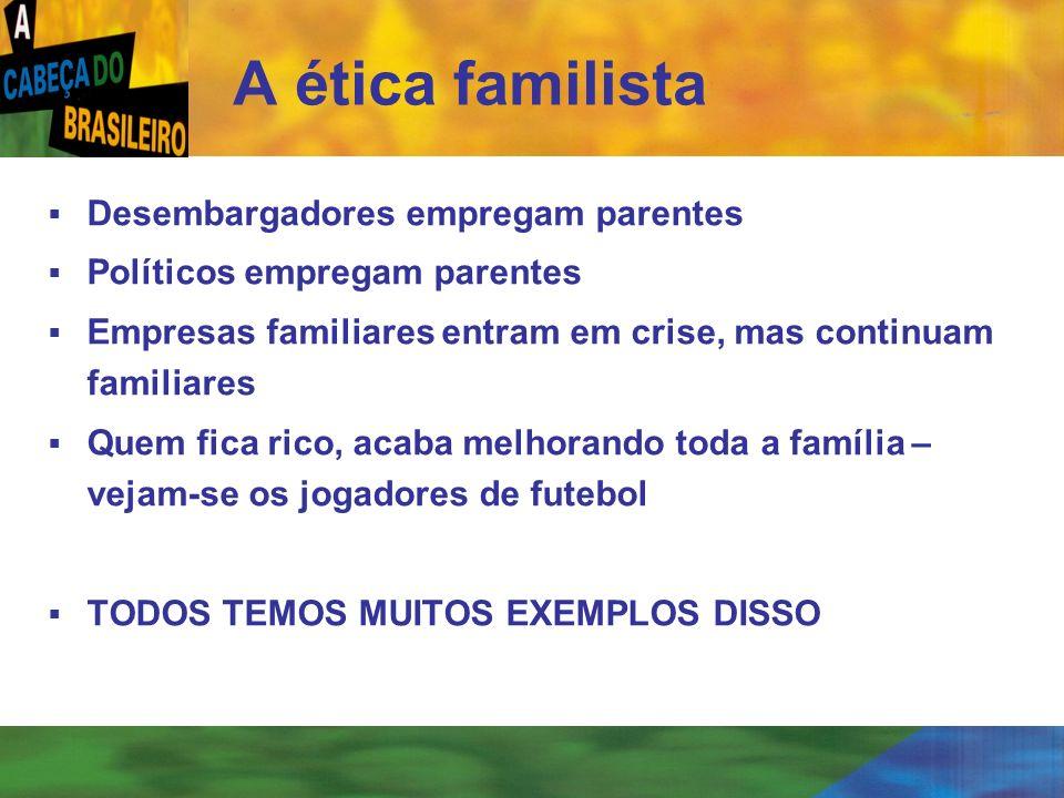 [ 9 ] Desembargadores empregam parentes Políticos empregam parentes Empresas familiares entram em crise, mas continuam familiares Quem fica rico, acab