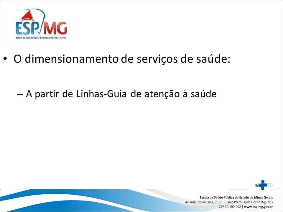 2 O dimensionamento de serviços de saúde: – A partir de Linhas-Guia de atenção à saúde