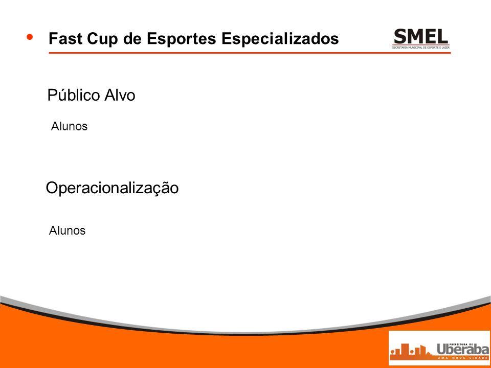 Fast Cup de Esportes Especializados Público Alvo Operacionalização Alunos