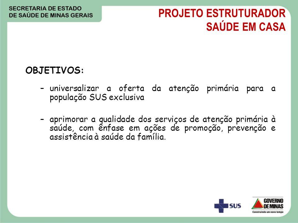 Estrutura: Incentivo para obras de UBS; Incentivo Mensal às Equipes; Veículos.