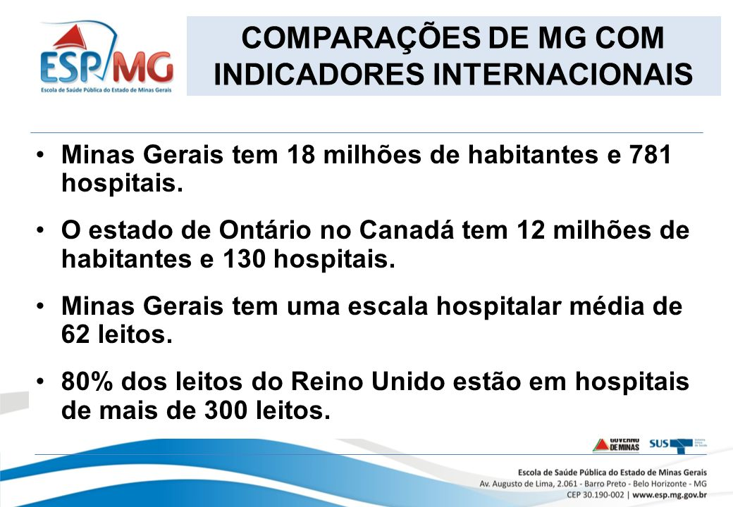 Minas Gerais tem 18 milhões de habitantes e 781 hospitais.