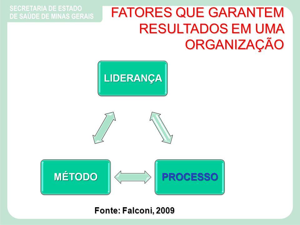 FATORES QUE GARANTEM RESULTADOS EM UMA ORGANIZAÇÃO Fonte: Falconi, 2009