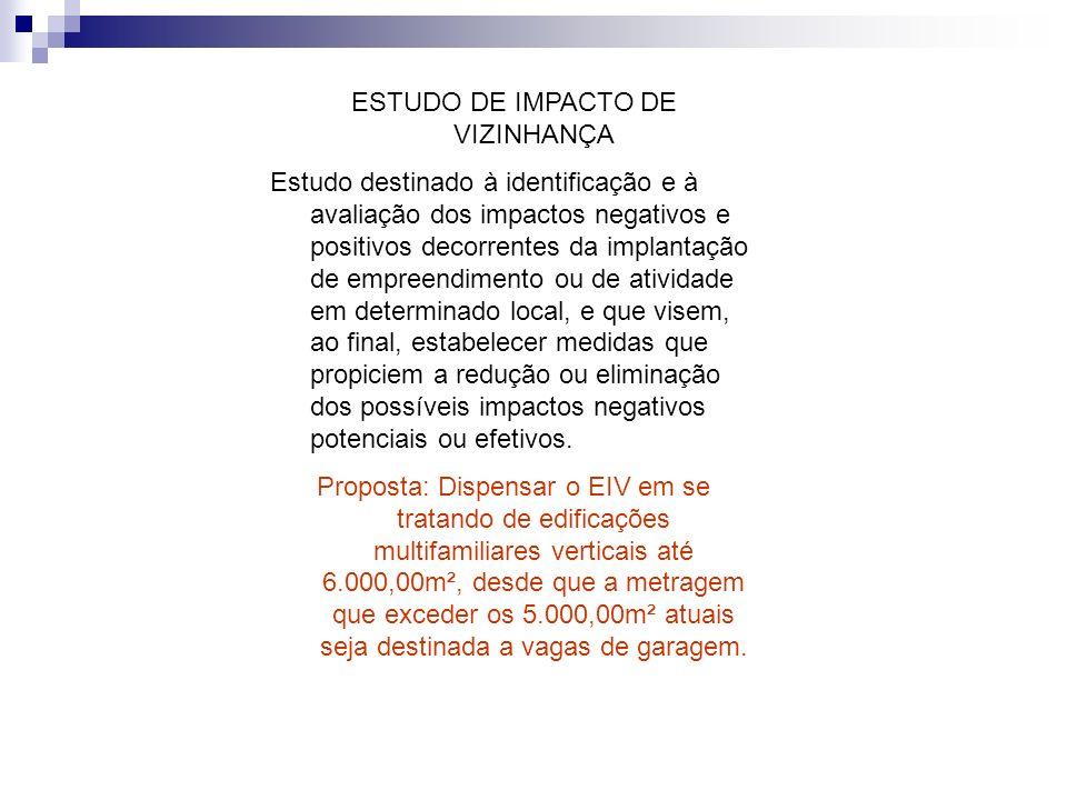 ESTUDO DE IMPACTO DE VIZINHANÇA Estudo destinado à identificação e à avaliação dos impactos negativos e positivos decorrentes da implantação de empree