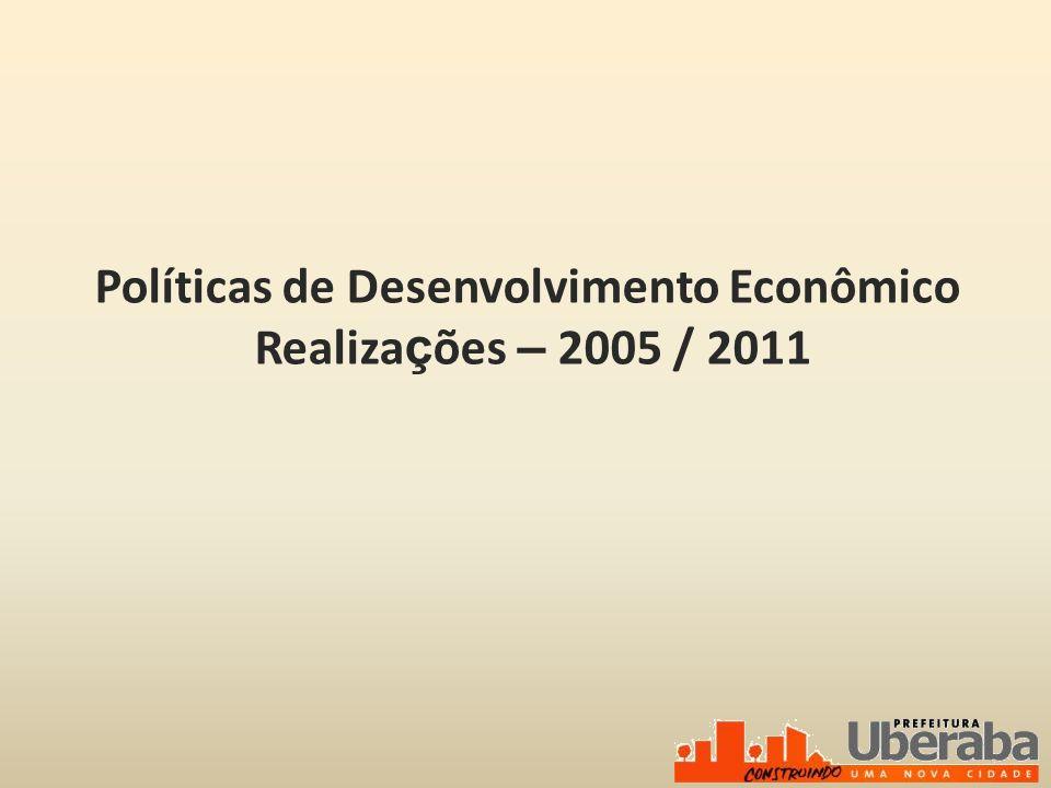 Políticas de Desenvolvimento Econômico Realiza ç ões – 2005 / 2011