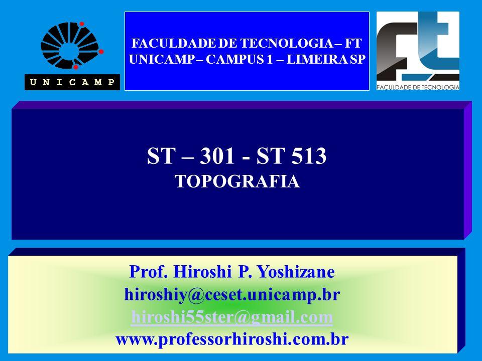 ST – 301 - ST 513 TOPOGRAFIA Prof. Hiroshi P.
