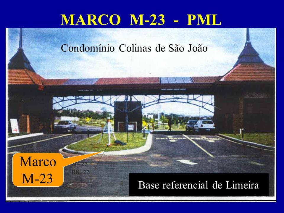 MARCO M-23 - PML Marco M-23 Base referencial de Limeira Condomínio Colinas de São João