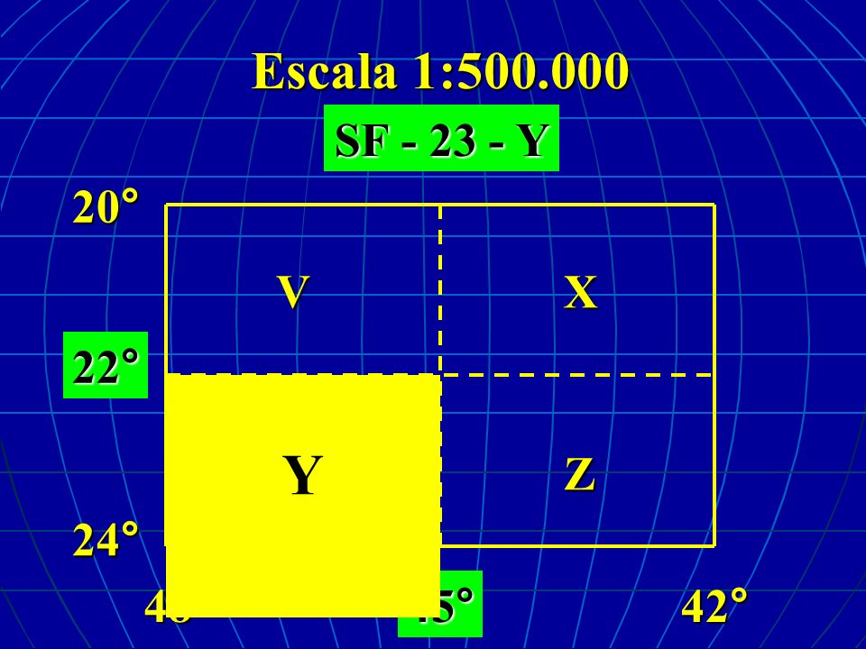 Escala 1:500.000 48°42° VXY Z SF - 23 - Y 24°20° 22°45° Y
