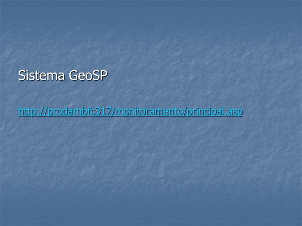 Sistema GeoSP http://prodambfc317/monitoramento/principal.asp