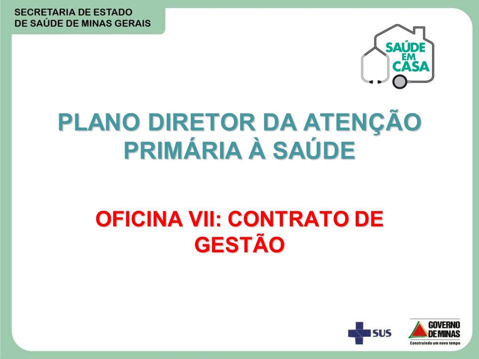 PLANO DIRETOR DA ATENÇÃO PRIMÁRIA À SAÚDE OFICINA VII: CONTRATO DE GESTÃO