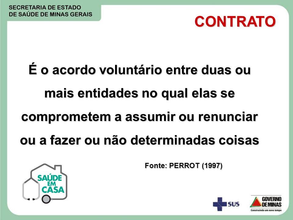 É o acordo voluntário entre duas ou mais entidades no qual elas se comprometem a assumir ou renunciar ou a fazer ou não determinadas coisas Fonte: PER