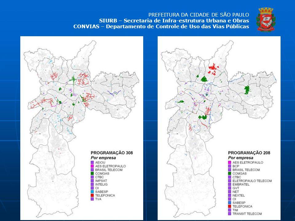 PREFEITURA DA CIDADE DE SÃO PAULO SIURB – Secretaria de Infra-estrutura Urbana e Obras CONVIAS – Departamento de Controle de Uso das Vias Públicas
