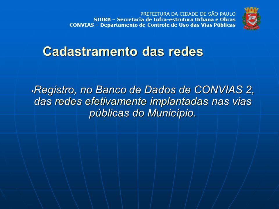PREFEITURA DA CIDADE DE SÃO PAULO SIURB – Secretaria de Infra-estrutura Urbana e Obras CONVIAS – Departamento de Controle de Uso das Vias Públicas Reg