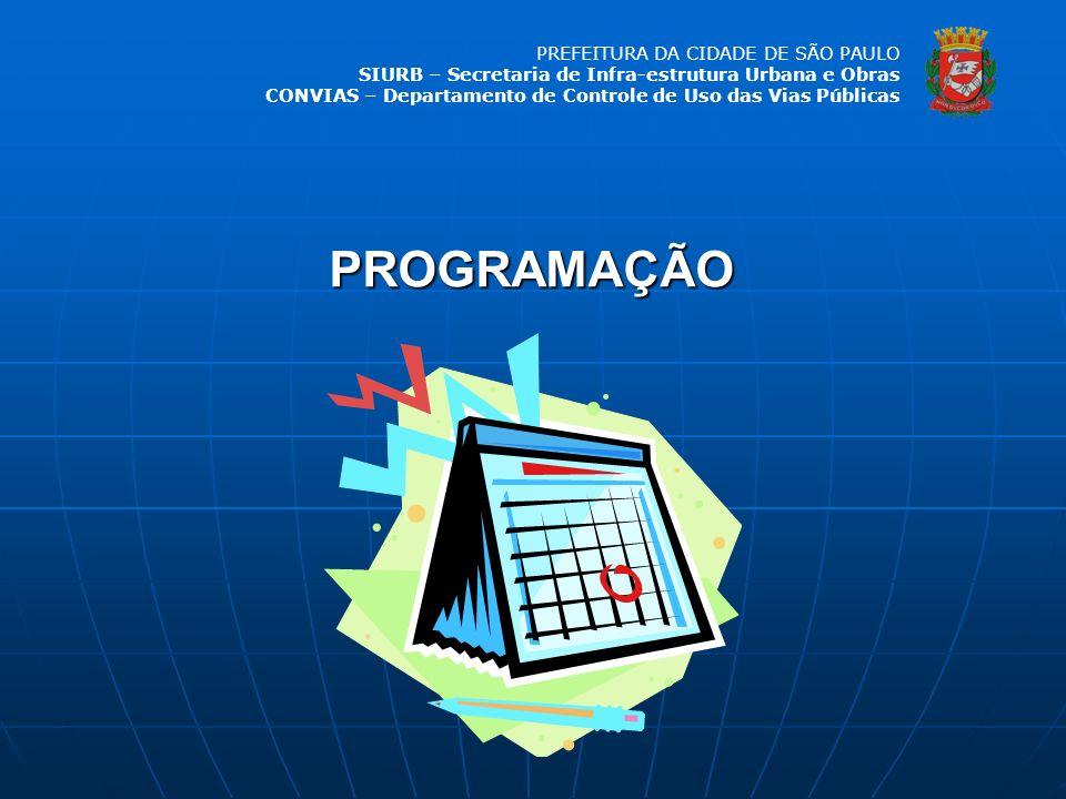 PREFEITURA DA CIDADE DE SÃO PAULO SIURB – Secretaria de Infra-estrutura Urbana e Obras CONVIAS – Departamento de Controle de Uso das Vias Públicas SIURB Composição do Grupo de Trabalho SMSP SMT CONVIASCECSPUA CCOI ATOS DSVCET