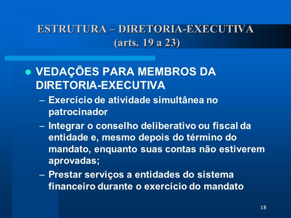 18 ESTRUTURA – DIRETORIA-EXECUTIVA (arts.