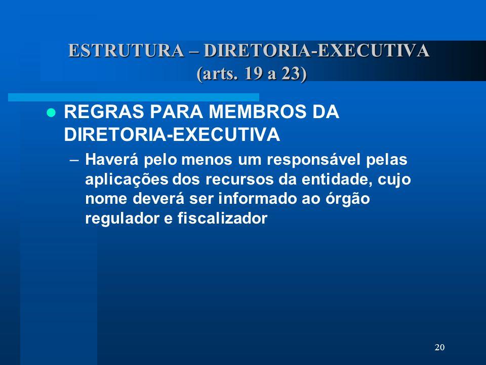 20 ESTRUTURA – DIRETORIA-EXECUTIVA (arts.