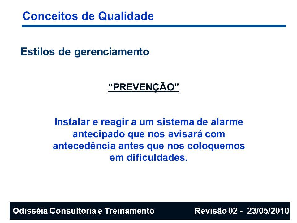 A série de normas ISO 9000 Benefícios nas Organizações Públicas: redução dos custos relativos a: ocorrência e/ou reincidência de falhas retrabalhos desperdícios não conformidade de fornecedores reclamações de clientes melhor dimensionamento dos controles dos processos AUMENTO DA PRODUTIVIDADE Odisséia Consultoria e Treinamento Revisão 02 - 23/05/2010