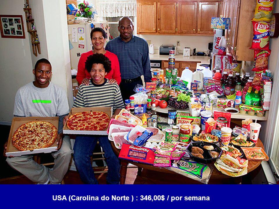 USA (Carolina do Norte ) : 346,00$ / por semana