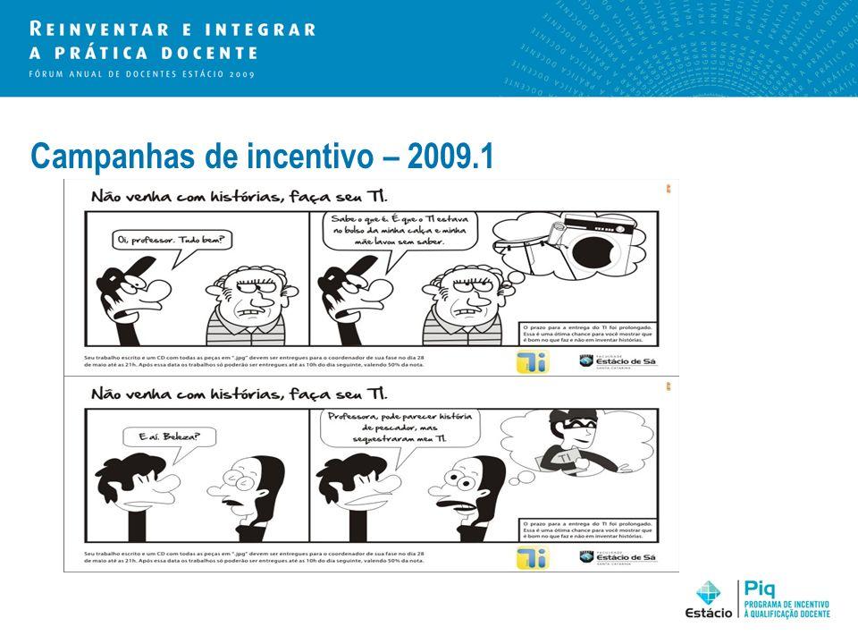 Campanhas de incentivo – 2009.1