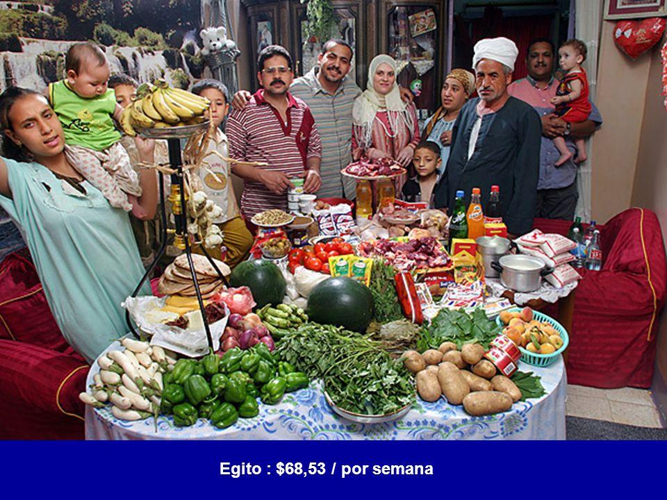 Egito : $68,53 / por semana