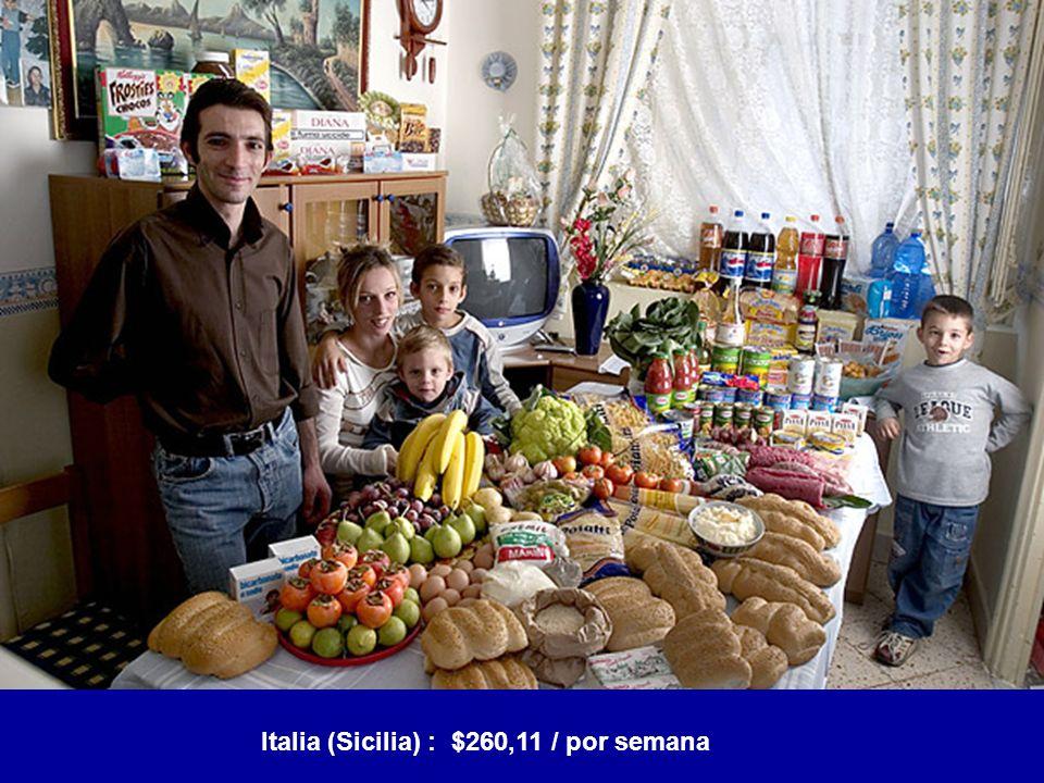 Italia (Sicilia) : $260,11 / por semana