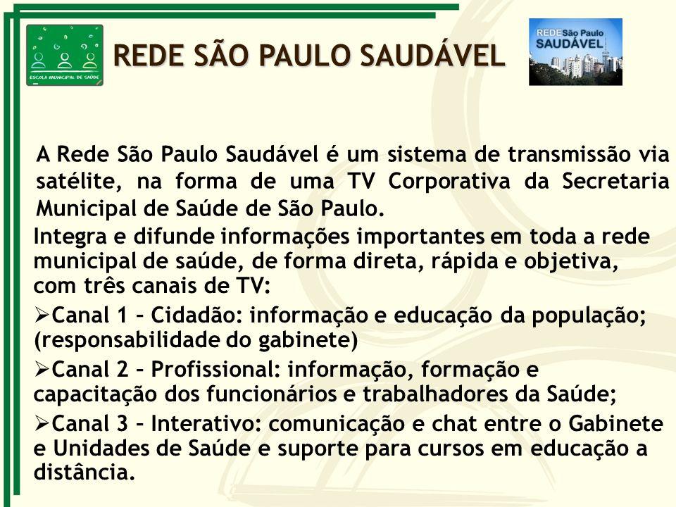 A Rede São Paulo Saudável é um sistema de transmissão via satélite, na forma de uma TV Corporativa da Secretaria Municipal de Saúde de São Paulo. Inte
