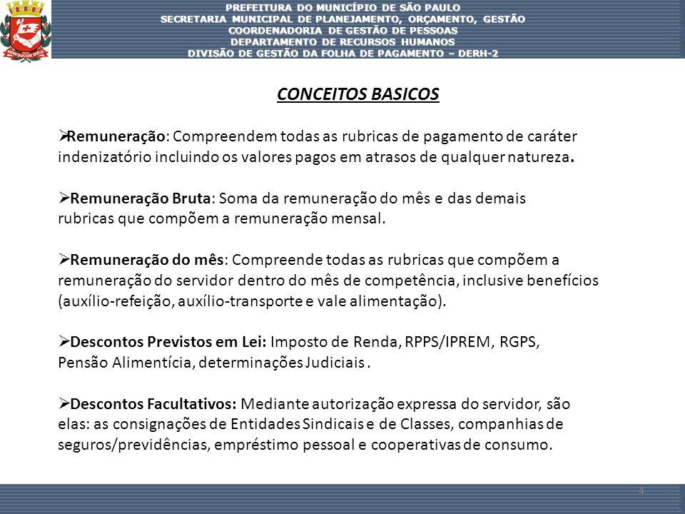 PREFEITURA DO MUNICÍPIO DE SÃO PAULO SECRETARIA MUNICIPAL DE PLANEJAMENTO, ORÇAMENTO, GESTÃO COORDENADORIA DE GESTÃO DE PESSOAS DEPARTAMENTO DE RECURS