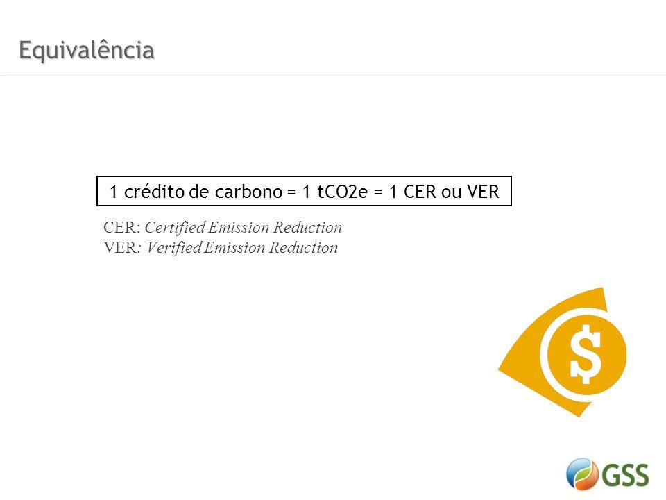 O mercado de carbono vigente é composto por duas vertentes: Mercado Regulado (Quioto) Países industrializados têm metas a serem cumpridas Os créditos de carbono (CERs - Certified Emission Reductions)são gerados fora desses países através do MDL e são certificados pela ONU Os créditos de carbono (CERs - Certified Emission Reductions) são gerados fora desses países através do MDL e são certificados pela ONU Mercado Voluntário Empresas, ONGs, Instituições, Governos, cidadãos, tomam a iniciativa de reduzir suas emissões voluntariamente Os créditos de carbono (VERs - Verified Emission Reduction) podem ser gerados em qualquer lugar do mundo e são auditados por uma verificadora local Mercado de Carbono Mercado de Carbono