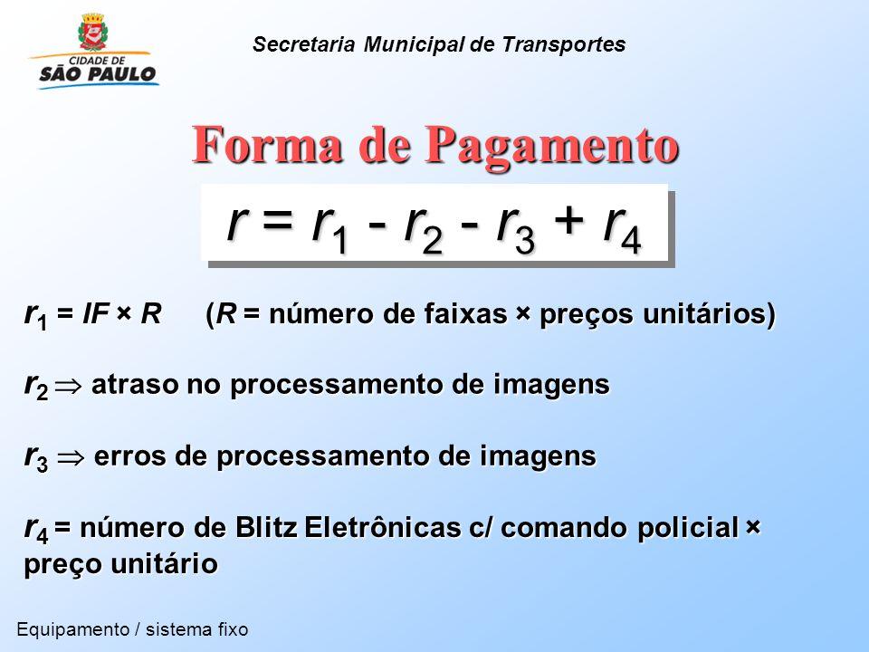 Forma de Pagamento r 1 = IF × R (R = número de faixas × preços unitários) r = r 1 - r 2 - r 3 + r 4 r 2 atraso no processamento de imagens Equipamento
