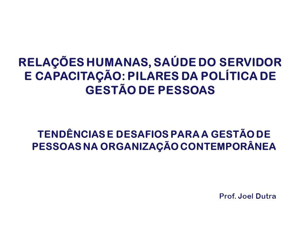 TENDÊNCIAS E DESAFIOS PARA A GESTÃO DE PESSOAS NA ORGANIZAÇÃO CONTEMPORÂNEA Prof.