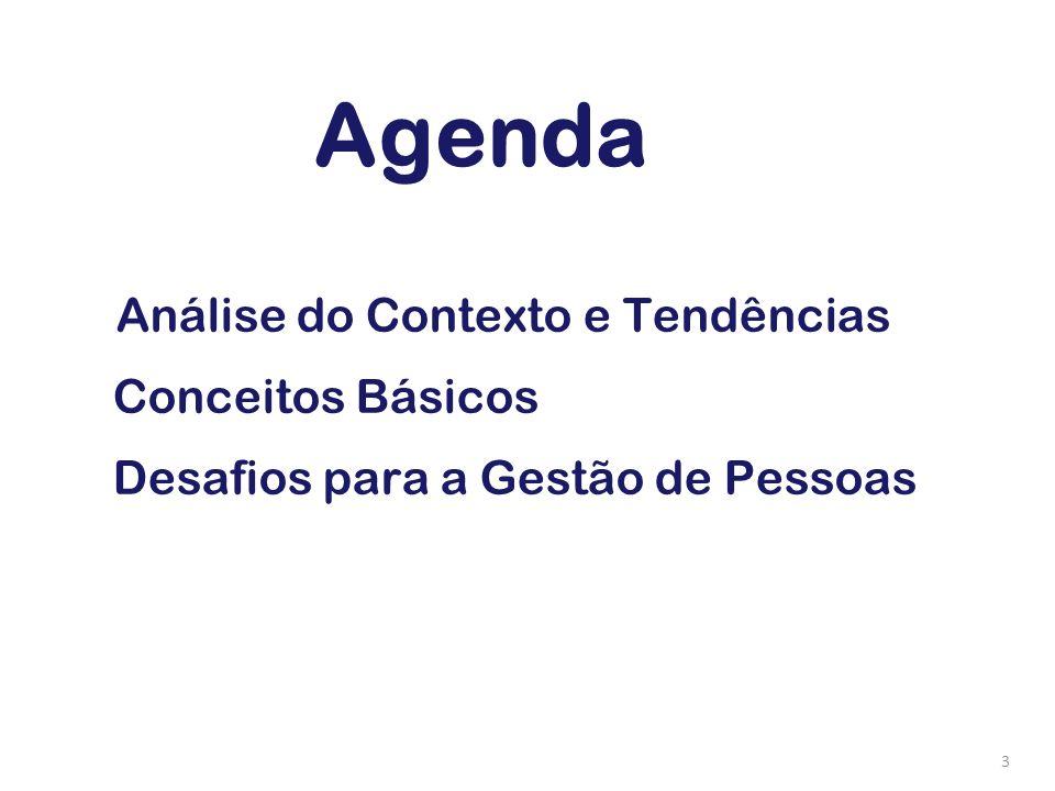 3 Análise do Contexto e Tendências Conceitos Básicos Desafios para a Gestão de Pessoas Agenda