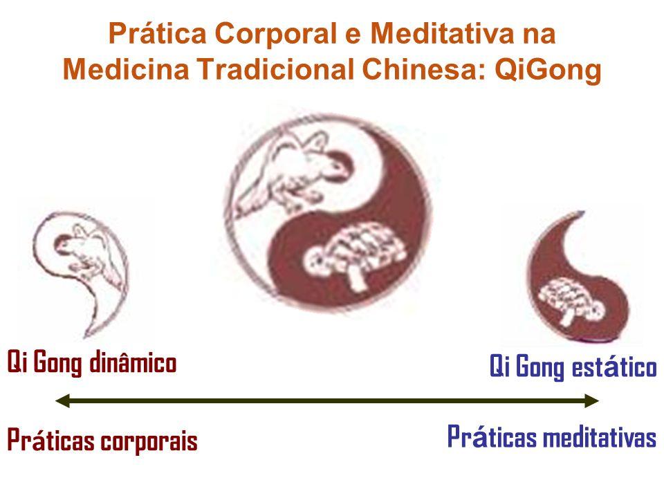 Qi Gong est á tico Pr á ticas meditativas Qi Gong dinâmico Pr á ticas corporais Prática Corporal e Meditativa na Medicina Tradicional Chinesa: QiGong