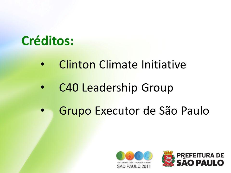 Créditos: Clinton Climate Initiative C40 Leadership Group Grupo Executor de São Paulo