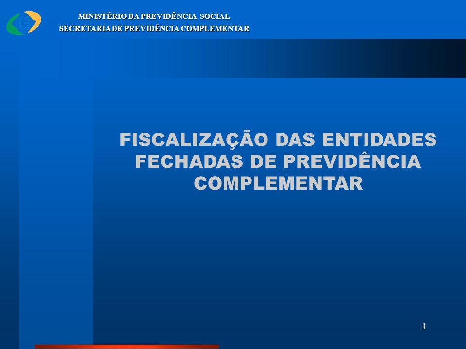 1 MINISTÉRIO DA PREVIDÊNCIA SOCIAL SECRETARIA DE PREVIDÊNCIA COMPLEMENTAR FISCALIZAÇÃO DAS ENTIDADES FECHADAS DE PREVIDÊNCIA COMPLEMENTAR