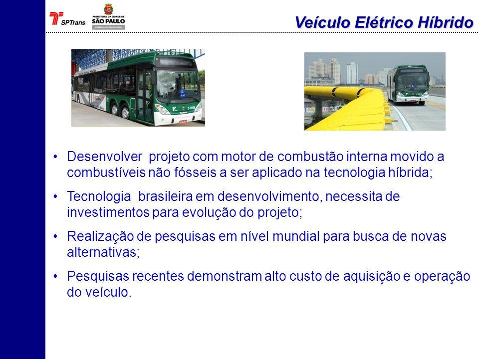 Investimento em infra-estrutura civil e elétrica; Envolvimento de outras área da SPTrans para detalhamento do projeto; Possibilidade da redução da frota movida a diesel.