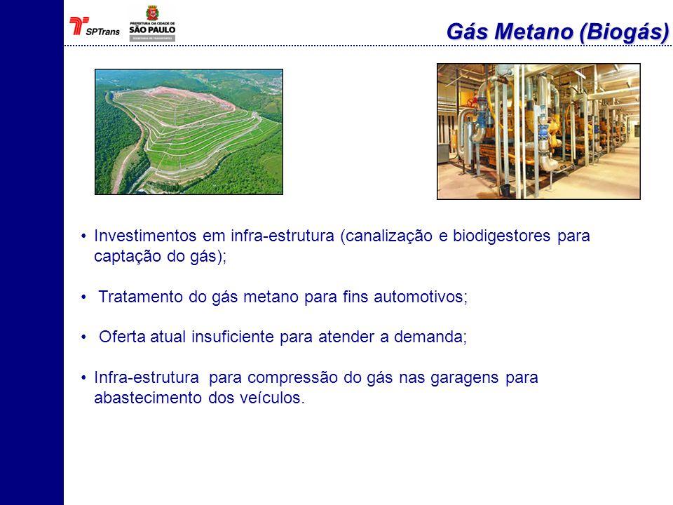 Alternativa disponível no mercado; Atualmente há adição de 5% ao diesel; Autorização da ANP e das montadoras para aumento da porcentagem da adição ao diesel, por exemplo, B10, B20, etc, até a substituição plena; Praticidade na logística de distribuição; Verificar junto aos distribuidores a disponibilidade do produto; Análise ambiental da utilização do biodiesel 100%; Aumento de consumo Aumento da emissão de Nox Ocupação do solo Biodiesel