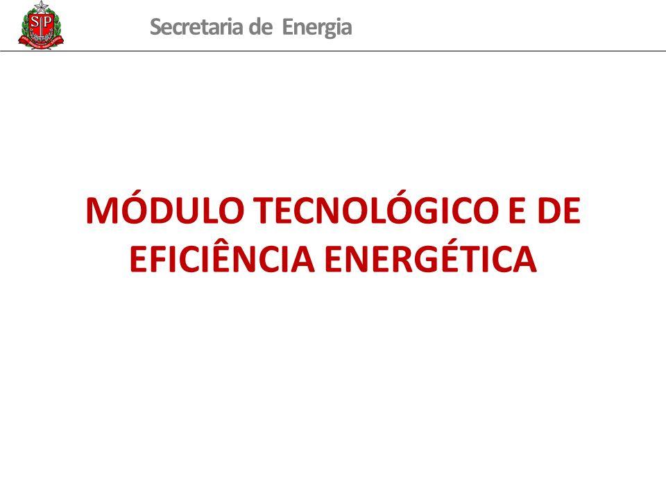 Secretaria de Energia MÓDULO TECNOLÓGICO E DE EFICIÊNCIA ENERGÉTICA