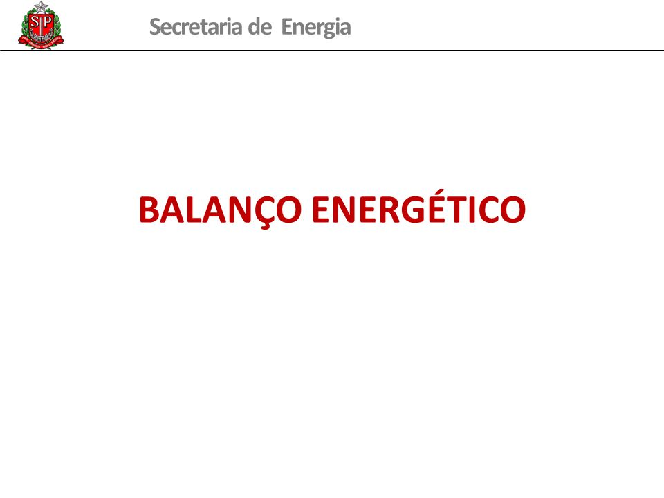 Secretaria de Energia Evolução da Emissão de CO 2 no Município de São Paulo Taxa Crescimento: 1,5%aa (2006-2010) 12,4 Milhões de tCO 2 /ano Corresponde a emissão da BOLÍVIA Potencial redução (referência - ano 2020): Expansão metrô/CPTM: 1,5 Milhões de tCO 2 /ano Frota de ônibus do município com combustível renovável:1,5 Milhões de tCO 2 /ano Fonte: Estimativa GT Transporte – Comitê Gestor da PEMC – dez/2010