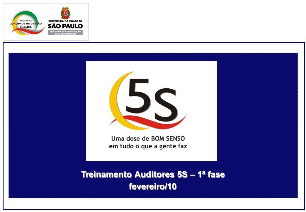 Treinamento Auditores 5S – 1ª fase fevereiro/10