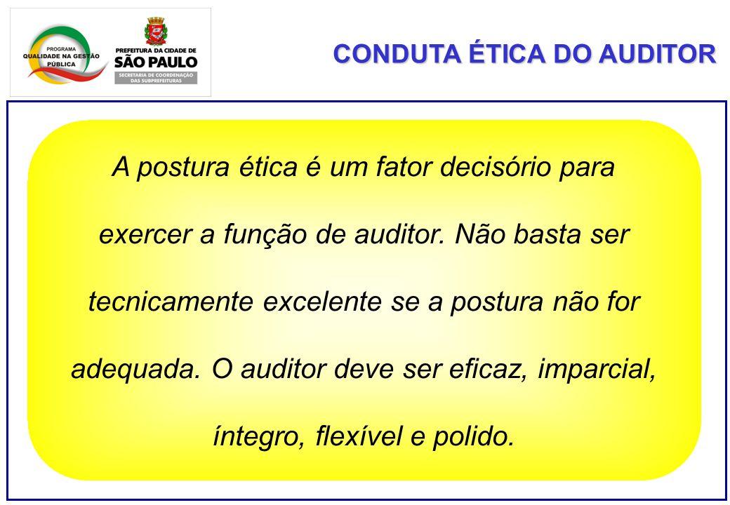 A postura ética é um fator decisório para exercer a função de auditor. Não basta ser tecnicamente excelente se a postura não for adequada. O auditor d