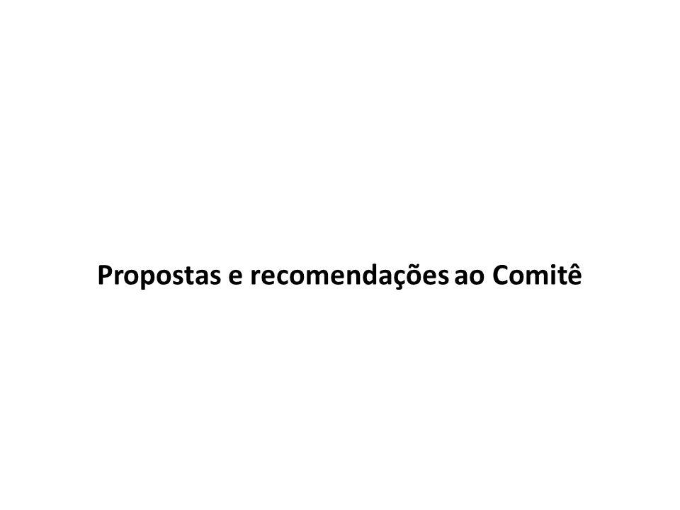 Propostas e recomendações ao Comitê