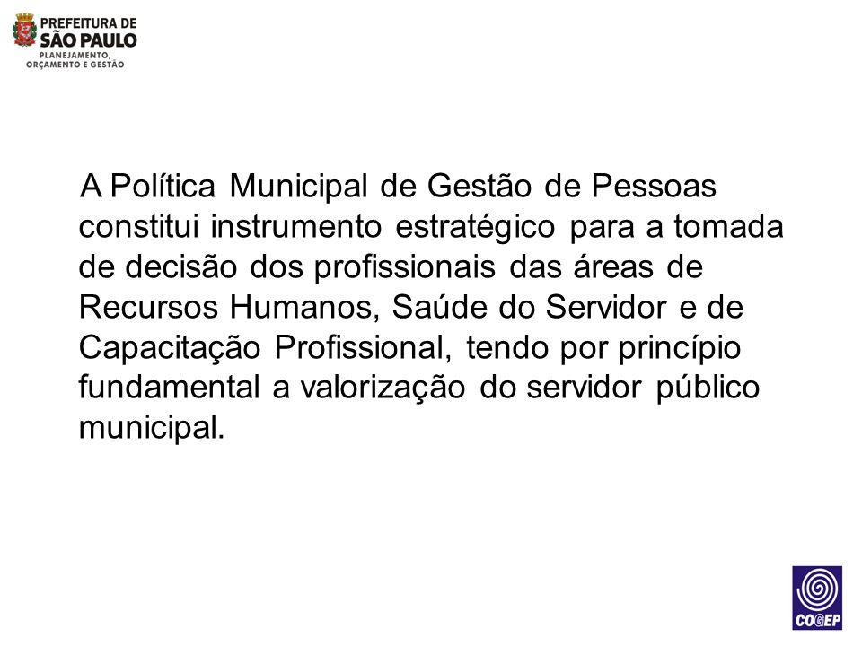 A Política Municipal de Gestão de Pessoas constitui instrumento estratégico para a tomada de decisão dos profissionais das áreas de Recursos Humanos,