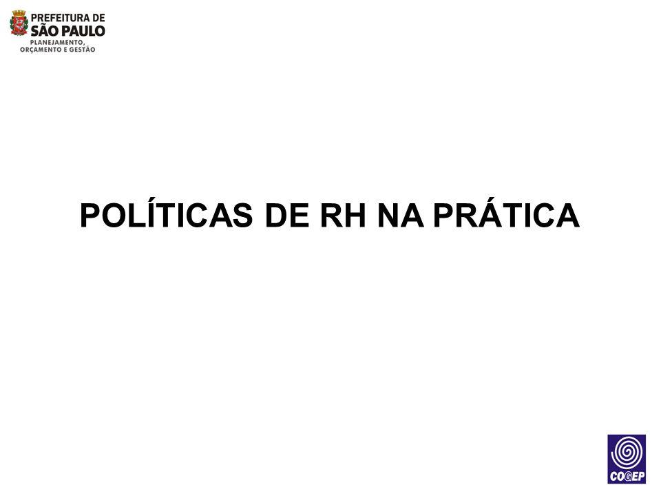 As políticas de RH previamente estabelecidas devem permear as ações dos profissionais de RH e Gestores na rotina do dia a dia e na implementação dos Programas/Projetos/Ações.